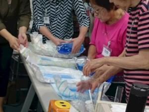 水分吸収実験